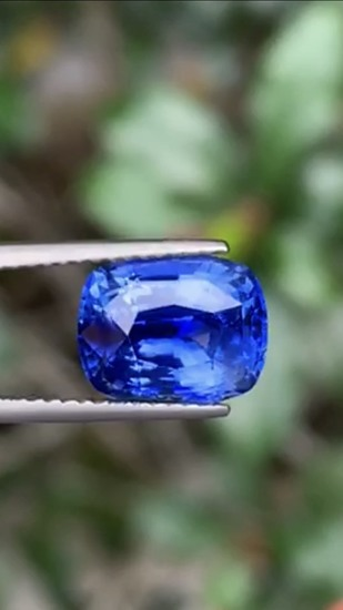 Natural Untreated Cornflower Blue Sapphire 4.18 Ct -GRS