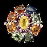 Natural Fancy Color Sapphire & Garnet Ring