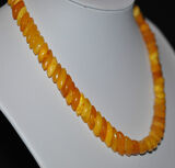 Antique Natural Butterscotch Egg Yolk Amber Necklace