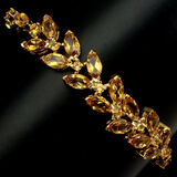Natural 8x4mm Yellow Citrine 71.41 Ct Bracelet