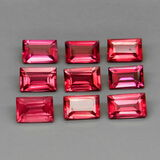 Natural Cherry Pink Rhodolite Garnet Africa 9Pcs/6.69Ct