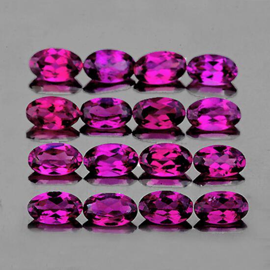 Natural Pink Purple Rhodolite Garnet 5x3 Mm - FL