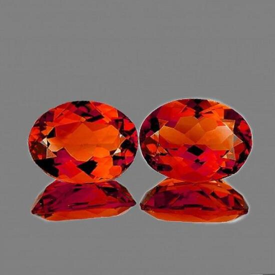 Natural Rare Madeira Top Orange Citrine Pair - FL