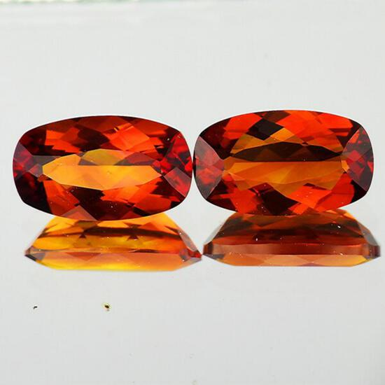Natural Rare Madeira Orange Citrine Pair[Flawless-VVS]