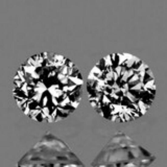 Natural White Diamonds Pair - Untreated