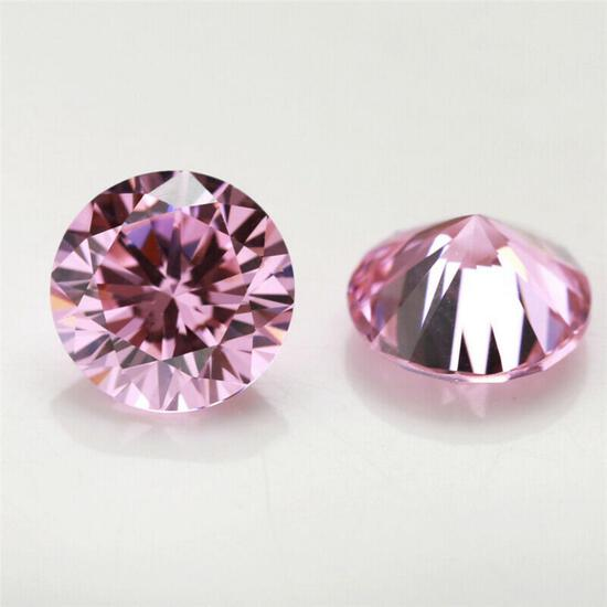 Stunning Brilliant Pink Lab Diamond 8.00 MM - VVS