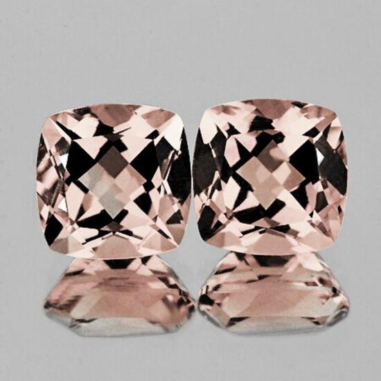Natural Peach Pink Morganite Pair [VVS]