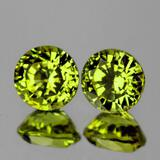 Natural Green Yellow Mali Garnet Pair{Flawless-VVS}