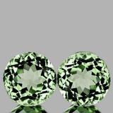 Natural Green Amethyst Pair 11.00 MM[Flawless-VVS]