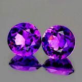 Natural Purple Amethyst Pair [Flawless-VVS]