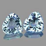 Natural Aquamarine Heart Pair 7.50 MM {Flawless-VVS1}