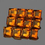 Natural AAA Golden Yellow Citrine 12 Pcs{Flawless-VVS1}
