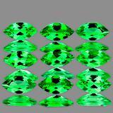 Natural Chrome Green Tsavorite Garnet 9 Pcs - VVS