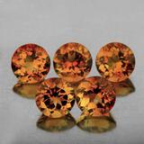 Natural Champagne Imperial Topaz 5 Pcs{Flawless-VVS1}