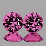 Natural  Untreated AAA Pink Sapphire Pair - FL