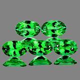 Natural Chrome Green Tsavorite Garnet 5 Pcs - VVS