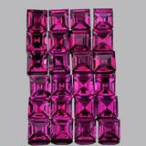 Natural Pinkish Purple Rhodolite Garnet 30 Pcs - FL/VVS