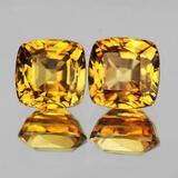 Natural Imperial Golden Yellow Zircon Pair - IF-VVS