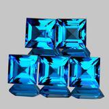 Natural Swiss Blue Topaz 5 Pcs[Flawless-VVS]