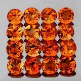Natural Madeira Orange Citrine 16 Pcs (Flawless-VVS1}