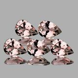 Natural Peach Pink Morganite 5 Pcs [Flawless-VVS]
