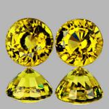 Natural AAA Canary Yellow Mali Garnet Pair{Flawless