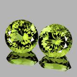 NATURAL AAA Green Yellow Mali Garnet Pair - FL