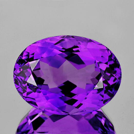 Natural Purple Amethyst 15x11 MM{Flawless-VVS1}