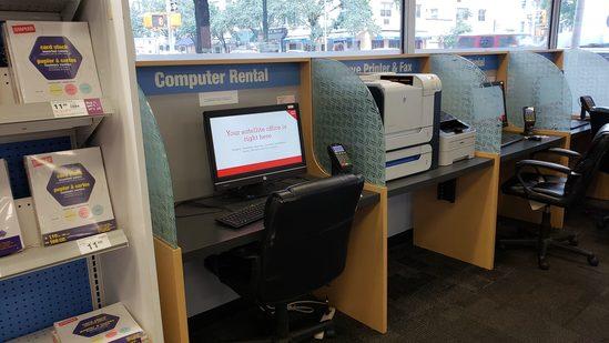 4 Bay Computer Work Station