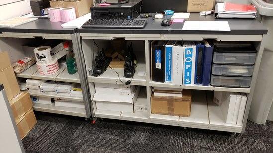 4 Shelf Rolling Work Station