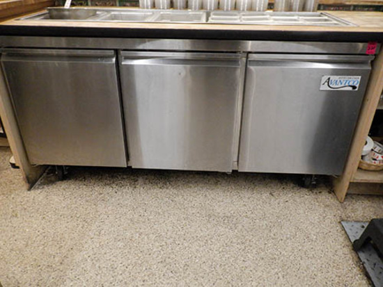 3 Door Under Cabinet Cooler