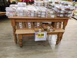 Wood Display Tables