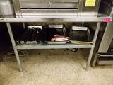 Ss 4 Foot Table W Shelf