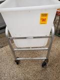 White Dump Bin with Cart