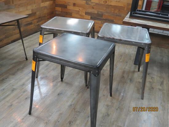 Set Of 3 Metal Bistro Tables