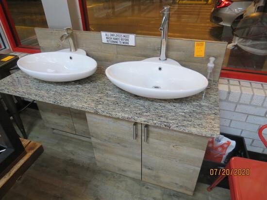 2 Bowl Hand Washing Station.