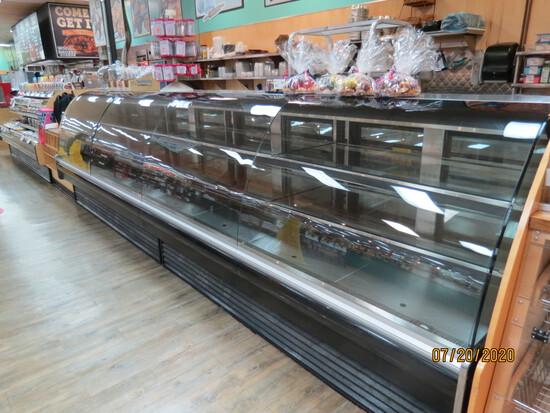 Set Of 2 Arneg, 8ft. Glass Front, Open End, Display Cooler