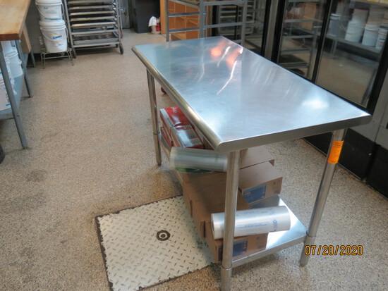 Metal Top Prep Table