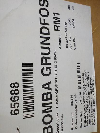 3 Pumps - Bomba Grundfos