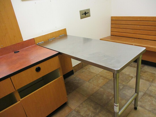 Stainless Steel - Fold-down- Exam Table