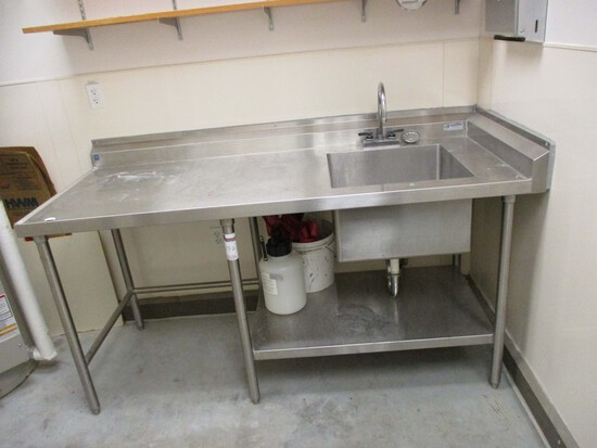 Stainless Steel - Prep Table With Sink