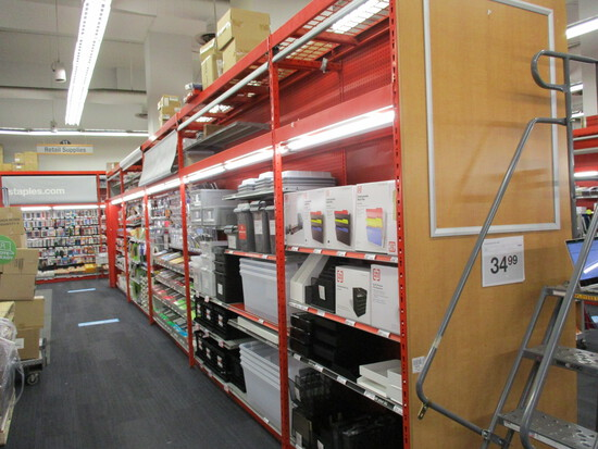 4 - 8ft Sections And 1 - 4ft Section Of Madix Double Sided Hypermax Shelving