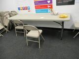 8ft Plastic Top - Folding Leg Table