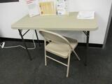 4ft Plastic Top - Folding Leg Table
