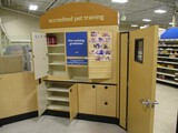 Decorative Wooden Patition Corner Cabinet with Door