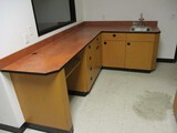 9ft L Shaped Counter with Sink