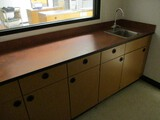 8ft Wooden Cabinet with Sink