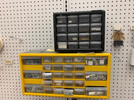 2 Organizers full of Points, Hooks, Nails etc…