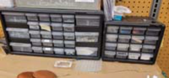 2 Small Parts Organizers.  Come with the parts within the drawers