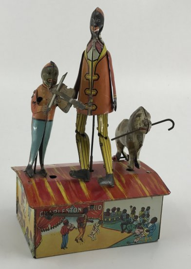 Marx Bros. Charleston Trio Tin Litho Wind Up Toy - Black Americana